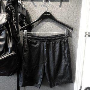 Topman Vegan Leather Short